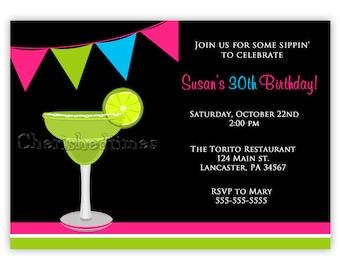 Margarita Birthday Invitation (Print Your Own)