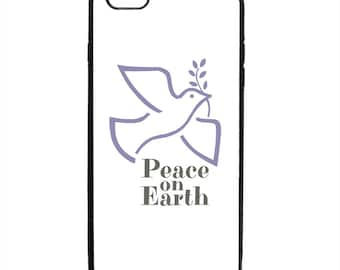 Peace On Earth Dove Print Phone Case Samsung Galaxy S5 S6 S7 S8 S9 Note Edge iPhone 4 4S 5 5S 5C 6 6S 7 7S 8 8S X SE Plus