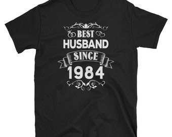 Best Husband Since 1984 Shirt, 34th Wedding Anniversary Gift, Funny 34 Year Anniversary T Shirt, Perfect Gift For Him, Vintage Hubby TShirt