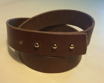 Honest Leather Goods Designed Belt. Buckle-less, low profile, and comfortable!
