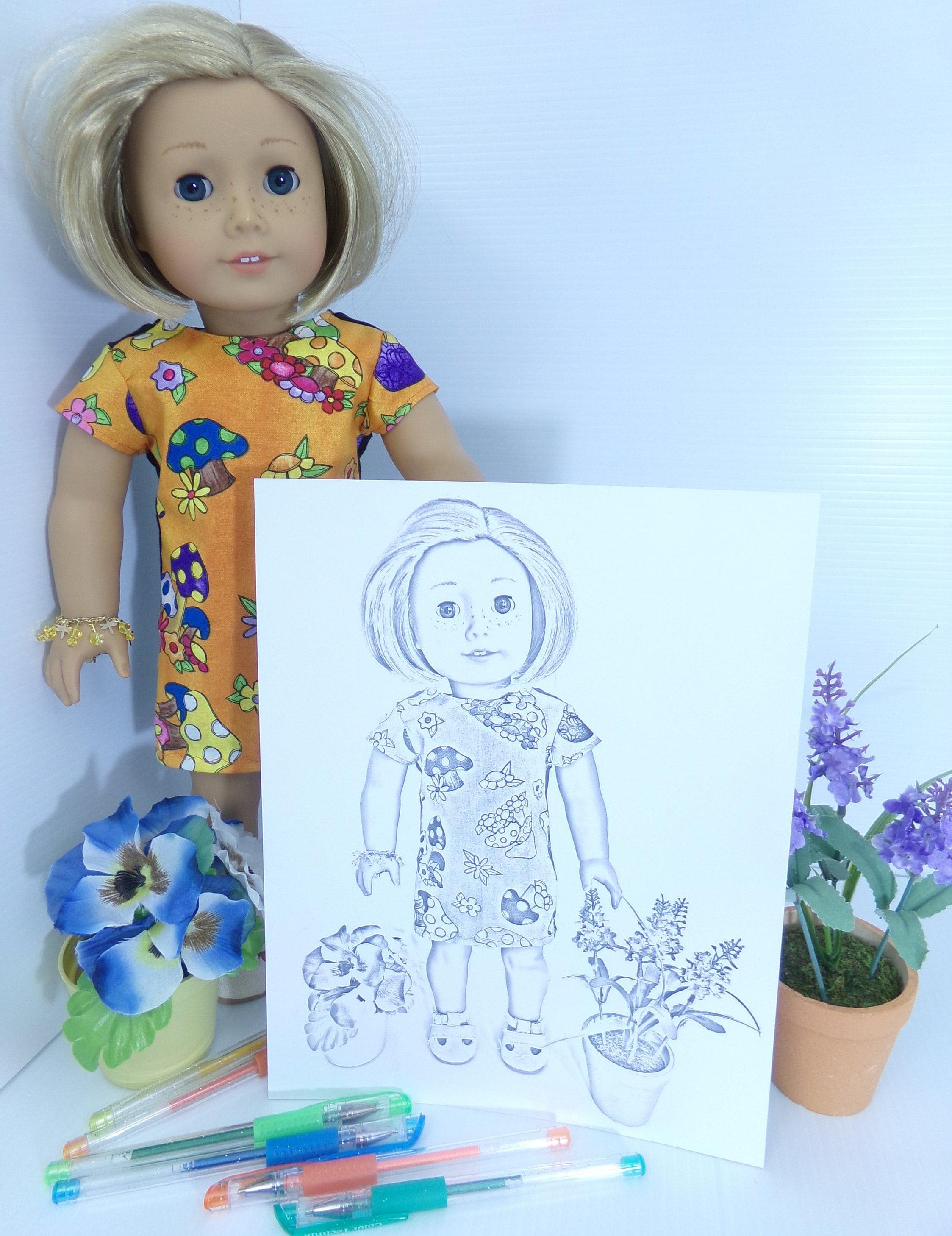 Amerikanische Mädchen Puppe Kit Kittredge Malvorlagen Set