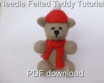 Needle Felting Teddy Tutorial PDF Download