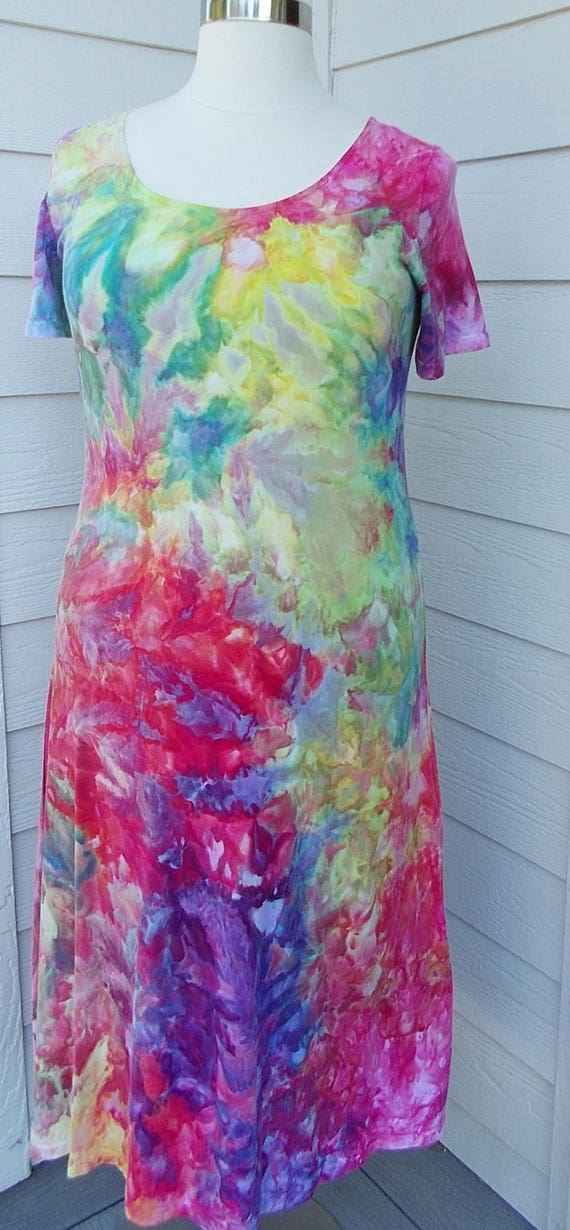 Ice dye tie dye Dress  XL Multi