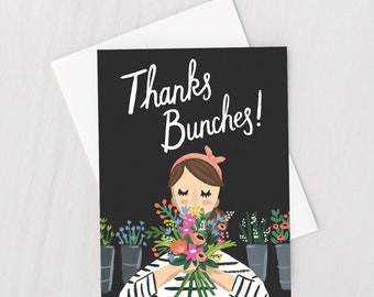 Thanks Bunches Greeting Card