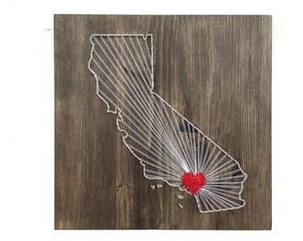 California   State String Art California Wall Art Home Decor