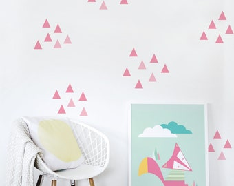 Kids Wall Decal / Triangles Wall Decal / Children Wall Decal / Wall Decal / Kids Decor / Pattern Wall Decal / Pink. Little Peaks Wall Decal