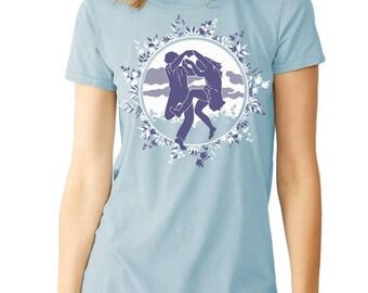 Dancers Dancing, Happy T-shirt Jade Green, Hippie t-shirt, Gift for her