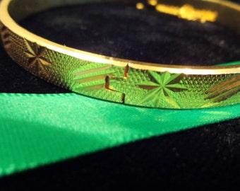 Gold Bangle-Style Bracelet