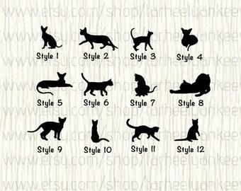 Cat Car Decal,Sphynx Cat Decal,Oriental Shorthair Cat Decal,Pixie Bob Cat Car Decal,Manx Cat Car Decal,Siamese Cat Car Decal,Cat Car Sticker