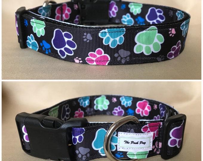 "Handmade Paws 1"" Adjustable Dog Collar - MEDIUM"