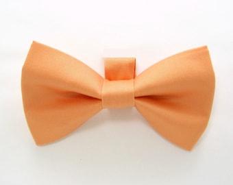 Peach Dog Bow Tie / Apricot Dog Bow Tie/Wedding Dog Bow