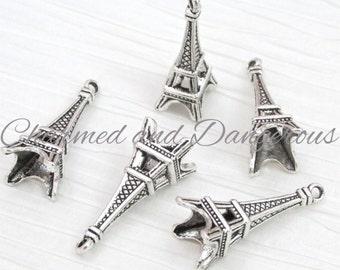 7 3D Eiffel Tower charms (CM65)