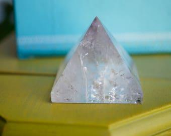 Polished Light Amethyst Quartz Crystal Handmade Pyramid (2.26oz)