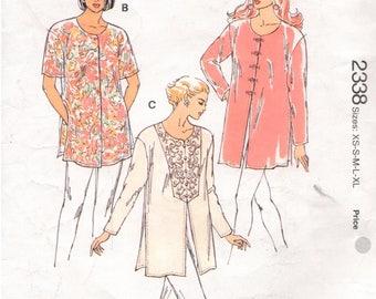 Kwik-Sew UNCUT Pattern 2338 - Misses Tunics Designed for Lightweight Woven Fabric - XS-XL