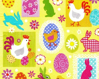 SMALL Easter decorations 163 1 towel paper 33 X 33 X 4 design