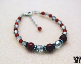 Swarovski Crystals & Tourmaline bracelet