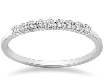 Diamond Wedding Ring 1/4ct SI Diamond Wedding Ring 14K White Gold
