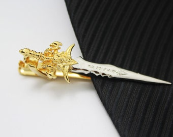 Sword, Sword Tie Clip, Accessories,Gold Accessories, Novelty Accessories, Gift For Man