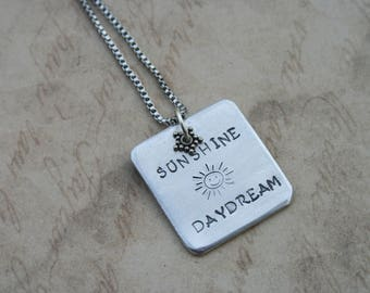 Sunshine Daydream necklace / Grateful Dead lyrics jewelry / Grateful Dead necklace / Grateful Dead gift / Jerry Garcia necklace /
