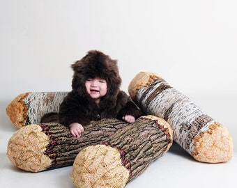 Tree Log Bolster Pillow Set of Four- Free shipping world-wide