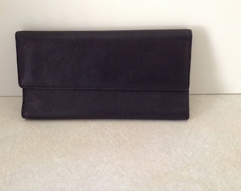 Genuine Leather Wallet In Black