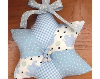 Baby boy patchwork hanging star