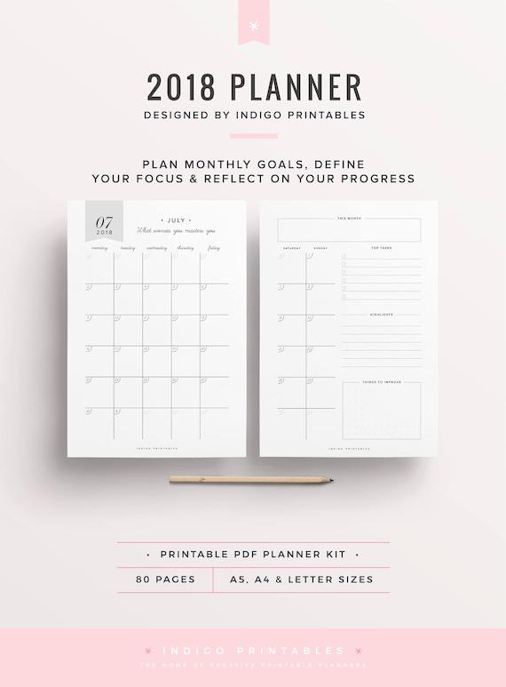 2018 2018 weekly planner