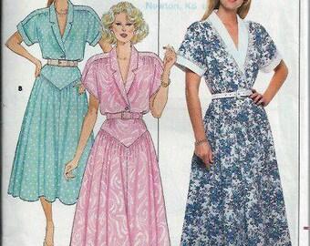 Butterick 4715 Misses Dropped Waist Dress Pattern,  Size 8-12, UNCUT/FF