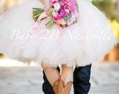 Blush Pink Tulle Skirt Ad...
