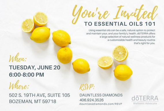 doTERRA Class Invitation Lemon