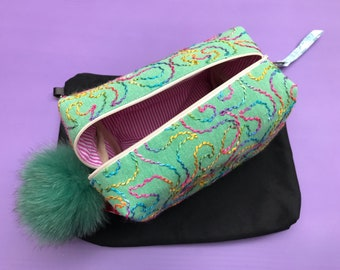 Handmade fabric Cosmetics / Makeup Bag