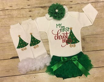 My 1st Christmas, My First Christmas, baby Christmas, newborn Christmas, baby girl Christmas, 1st Christmas outfit, Christmas outfit