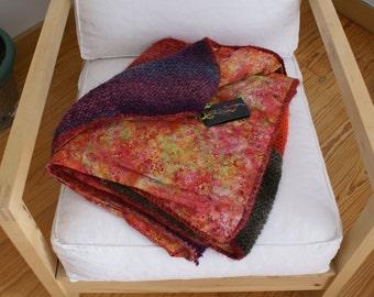 Lollipop - Boho knitted wool quilt-Boho wool afghan-Boho quilted blanket-Boho wool knitted throw