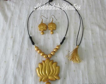 Terracotta Clay Necklace Chain