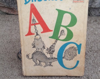Dr. Seuss's ABC's -  Vintage Children's Book 1963 - I Can Read All By Myself Beginner Book