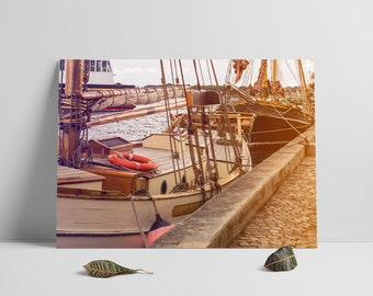 Photography Printables, Old Fishing Boats Print, Nostalgic photography,Scandinavian Photography, Modern Walll art, Instant Download, Prints