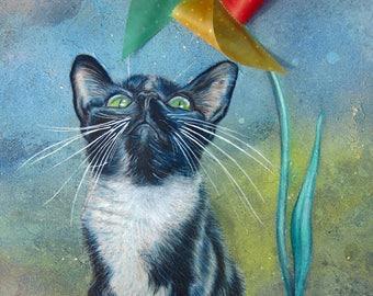 Pinwheel Kitty