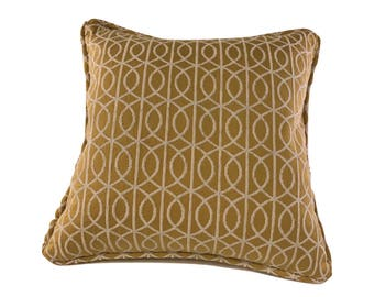 Dandelion Geometric Corded Decorative Pillow Cover 18x18