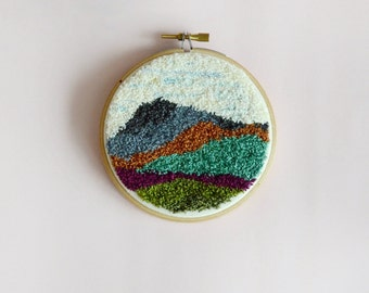 Punch Needle Mountains - Wall Decoration