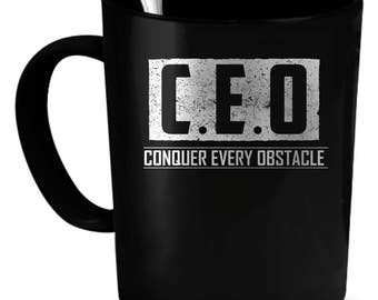CEO Coffee Mug 11 oz. Perfect Gift for Your Dad, Mom, Boyfriend, Girlfriend, or Friend - Proudly Made in the USA! CEO gift