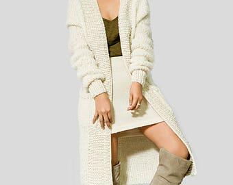chunky knit cardigan warm coat/ jackets long oversized cardigan women clothing/ cardigan/ hooded coat/ coats/ SALE/ Slouchy cardigan