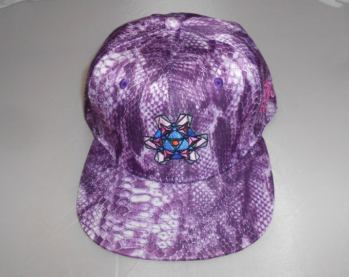 Snapback Flat-Brim Hat - Tourmaline (One-of-a-kind)