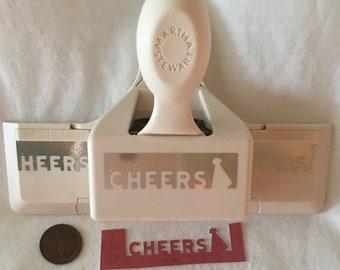 Martha Stewart CHEERS Christmas Tree Winter Border Edge Paper Punch Scrabooking Card Craft