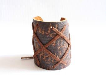 Leather cuff-Leather bracelet-Boyfriend gift-African bracelet-Maasai bracelet-Masai bracelet-African jewelry-Anniversary gift-Maasai jewelry