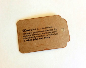 Love Tags, personalized tags, vintage card, distressed tag, 50 Wedding Tags