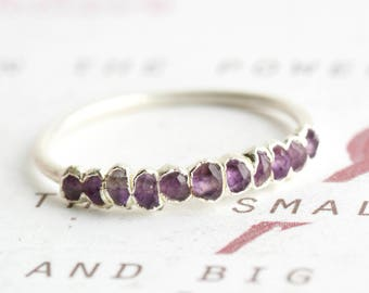 Amethyst Ring.Amethyst Band Ring.Eternity Amethyst Ring.Amethyst Wedding Band Ring.Amethyst Wedding Ring.Amethyst Wedding