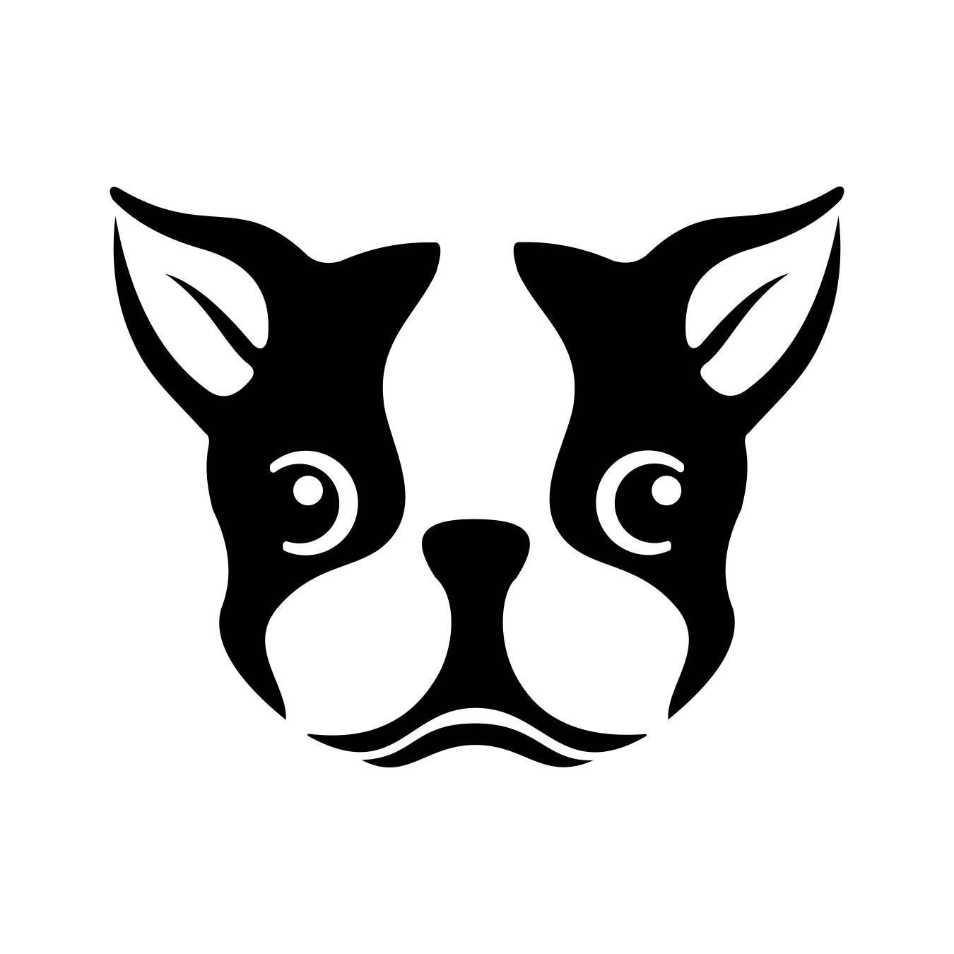 Boston Terrier Dog Head Graphics SVG Dxf EPS Png Cdr Ai Pdf