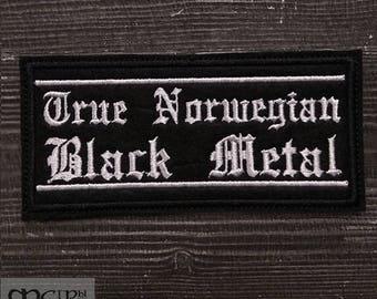 Patch  True Norwegian  black metal