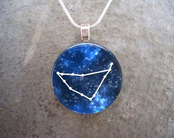 Capricorn Jewelry - Glass Pendant Necklace - Astronomy - Science