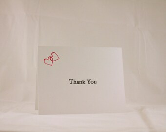 Heart Thank You cards - set of 10